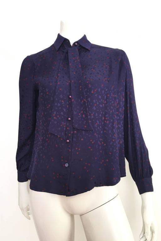 David Hayes For Saks Fifth Avenue 1984 Silk Blouse & Jacket Set