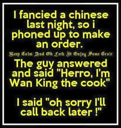 I fancied a Chinese last night - funny jokes