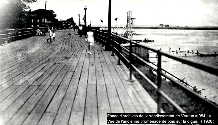 Boardwalk aménagé sur la digue (1926)    Crédit: Fonds d'archives de l'arrondissement de Verdun