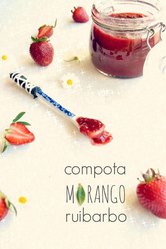 Sweet Gula: Compota de Morango e Ruibarbo