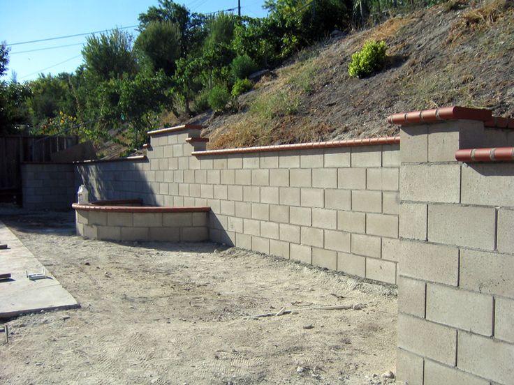 The 25 best retaining wall bricks ideas on pinterest for Garden block wall ideas