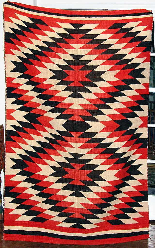 Large Eye-Dazzler Transitional Navajo Weaving, Ca. 1890 - Found on Ruby Lane $400.00