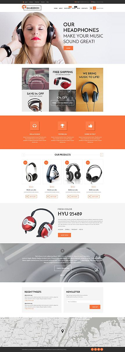Quality Headphones Online Store #WooCommerce #template. #themes #business #responsive #WooCommercethemes