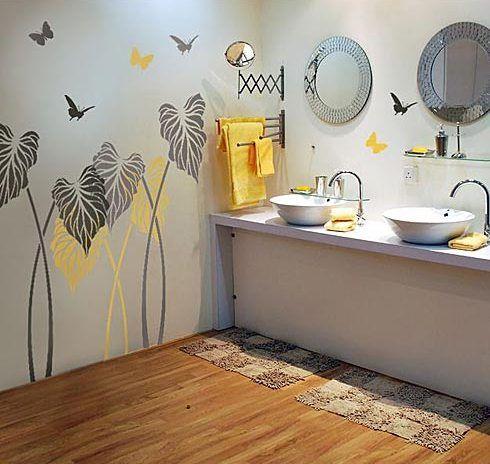 Otthon és dekor: Stencilezett, mintás falak