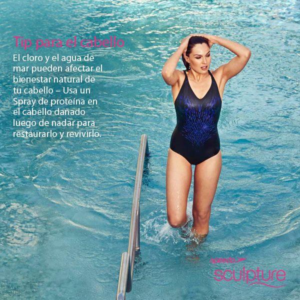 El cloro y el agua de mar pueden afectar el bienestar natural de tu cabello – Usa un Spray de proteína en el cabello dañado luego de nadar para restaurarlo y revivirlo