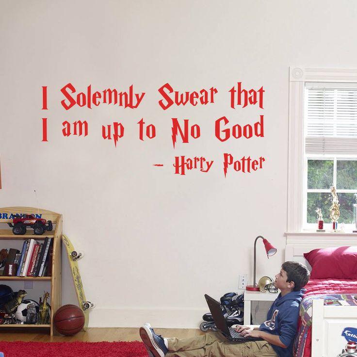 Modern Design I Solemnly Swear That I Am Up To No Good Wall Sticker Home  Decor Part 67