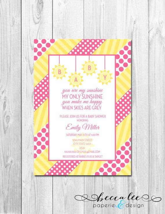 26 Best images about { you are my sunshine baby shower ...