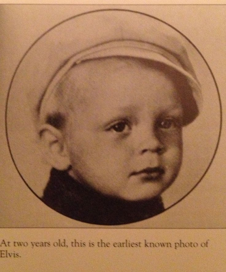 At two years old, this is the earliest known photo of Elvis. (The Elvis Encyclopedia)
