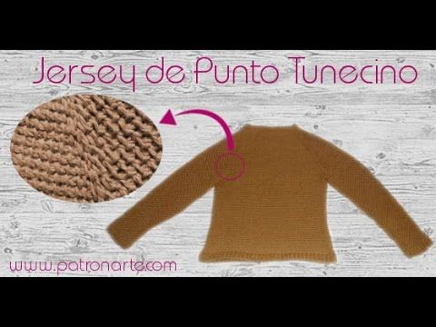 Tutorial Cárdigan Bebé Crochet o Ganchillo Tunecino - YouTube