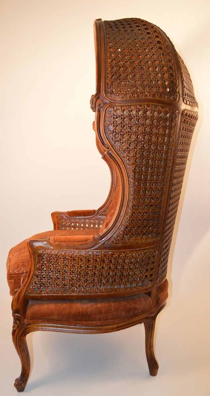 French Style Hooded CaneBack Chair at 1stdibs Cane back
