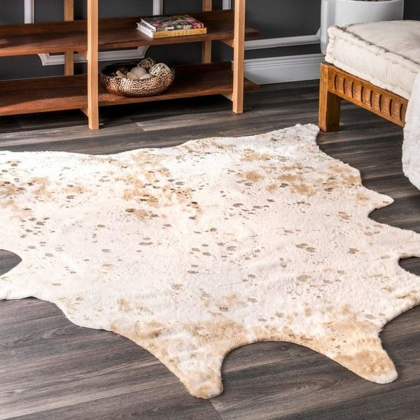 Nuloom Contemporary Faux Animal Prints Cowhide Rug 5 9 X 7 7 Faux Cowhide Faux Cowhide Rug Faux Cowhide Area Rug