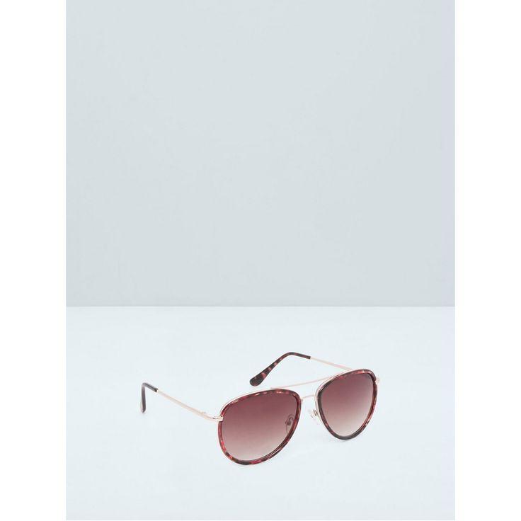 Aviator Style Sunglasses Brown/Black