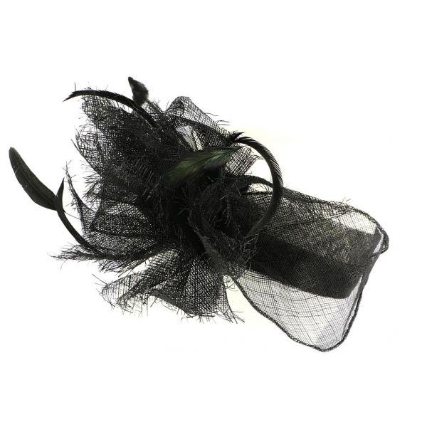 Serre tete mariage Noir Melly #chapeaumariage #mariage #chic #mode #fahion #bonplan #startup