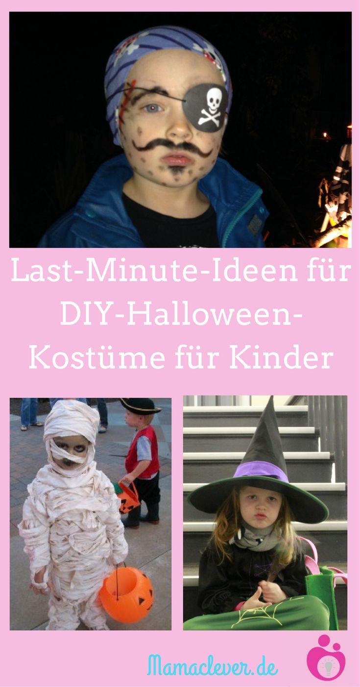 Halloween-Kostüme für Kinder selber machen: günstig, schnell und ganz einfach, auch ohne Nähkünste!! #halloween #halloweencostume #kostüm #kinder #diy
