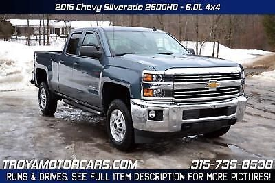 eBay: Silverado 2500 NO RESERVE 2015 Chevrolet Silverado 2500HD 4x4 Rebuildable Truck Repairable Damaged Wrecked #carparts #carrepair