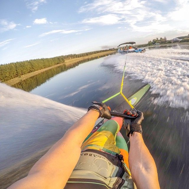 Photo of the Day! The Head Strap Mount always captures a unique experience when I ski! Photo by @skitrav. Submit your best moments by clicking the link in our profile. #Waterski #POV #GoPro #PhotoOfTheDay