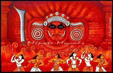17 best images about kerala murals on pinterest kerala for Asha mural painting guruvayur