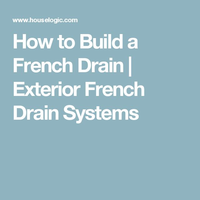 how to create a french drain