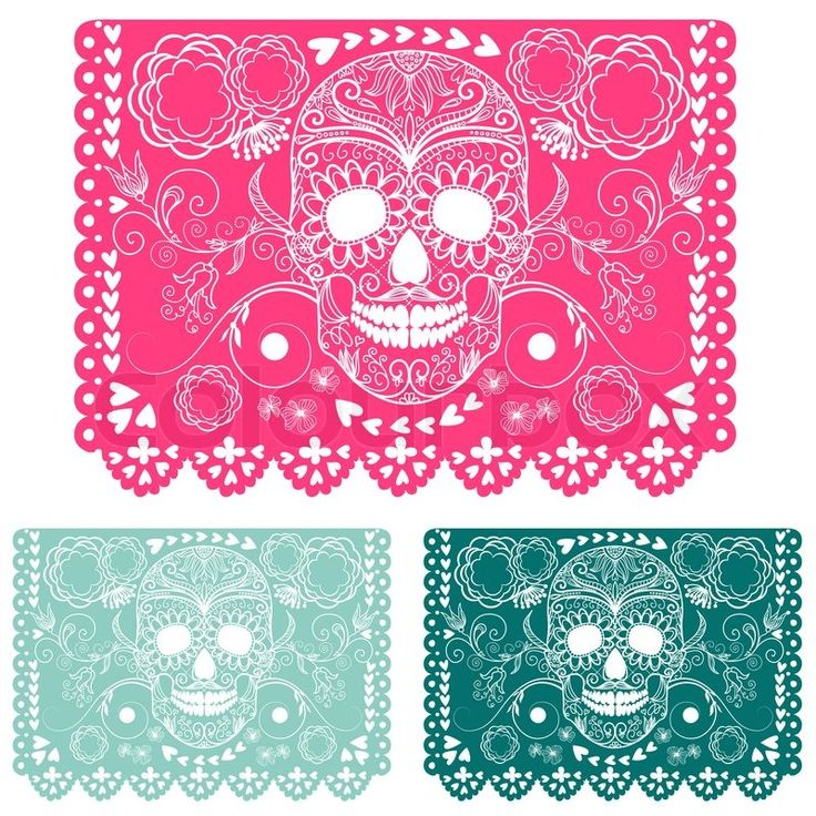 5477080-day-of-the-dead-decoration-papel-picado.jpg (800×800)