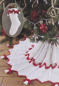 free christmas tree skirt patterns to crochet | CHRISTMAS CROCHET PATTERN SKIRT TREE - Online Crochet Patterns
