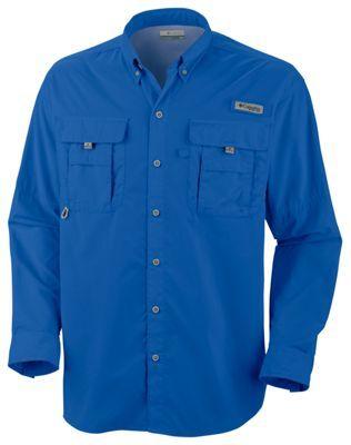 Columbia Bahama II Long Sleeve Shirt with Omni-Shade for Men - Vivid Blue - 2XL