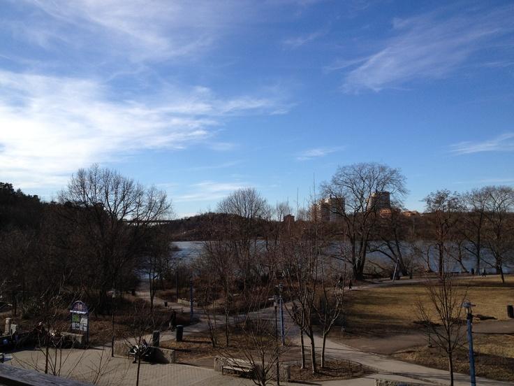 Utsikt mot sjön Trekanten.