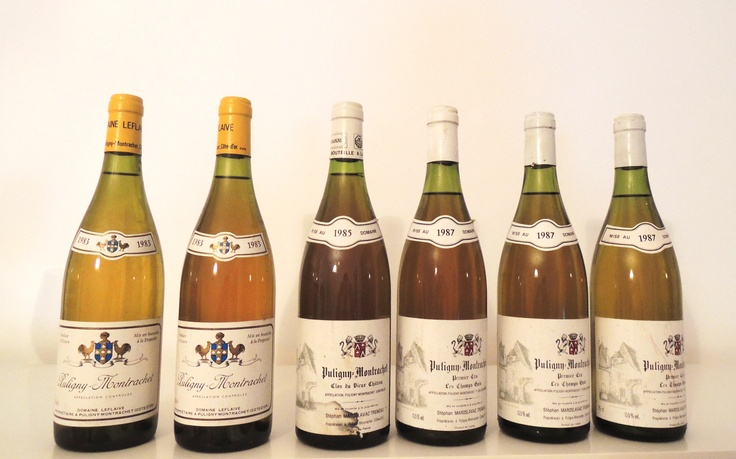 #Puligny #Montrachet colours: one can observe different colours of Puligny Montrachet vintages 1983, 1985, 1987. brought to you by #Winespoint.com