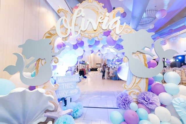 Olivia S Under The Sea Themed Party Entrance With Images