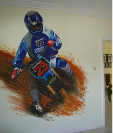 DIRT BIKE  Maybe A Dirt Bike Theme For Rhy. Mural ArtWall ... Part 69
