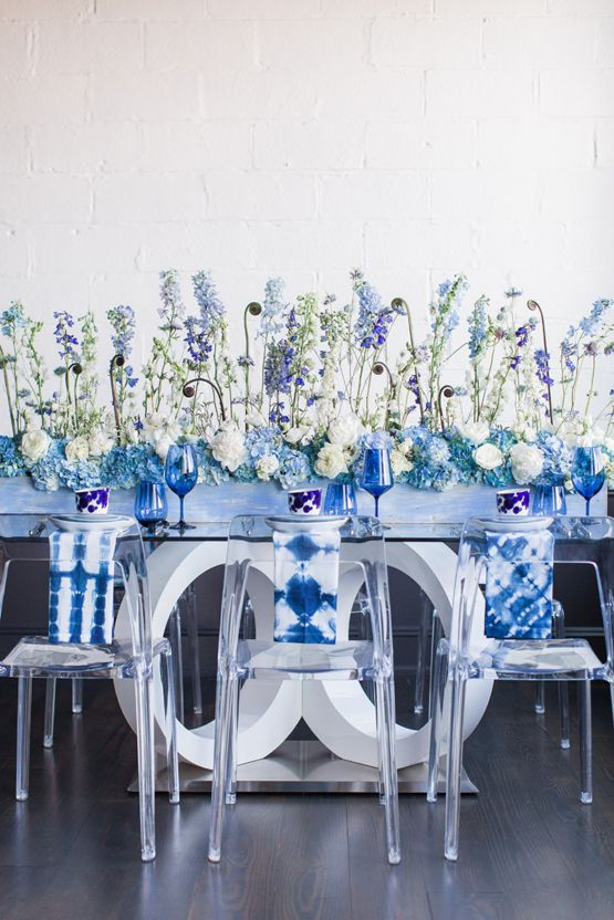 Fresh & Modern 'Something Blue' Wedding Inspiration Shoot