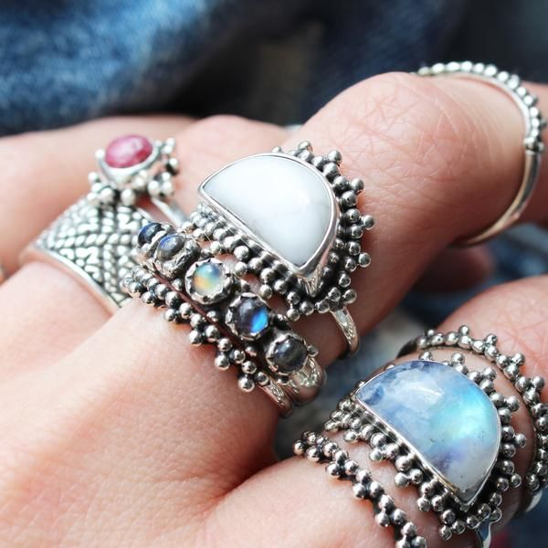 ❉ Mystical White Howlite ❉ ✒ Shop The Magic Now @ www.shopdixi.com // boho // bohemian // jewellery // jewelry // grunge // witchy // goth // gothic // hippie // summer // ocean // beach // moonstone // white howlite // crystal // stone // magical // enchanting //
