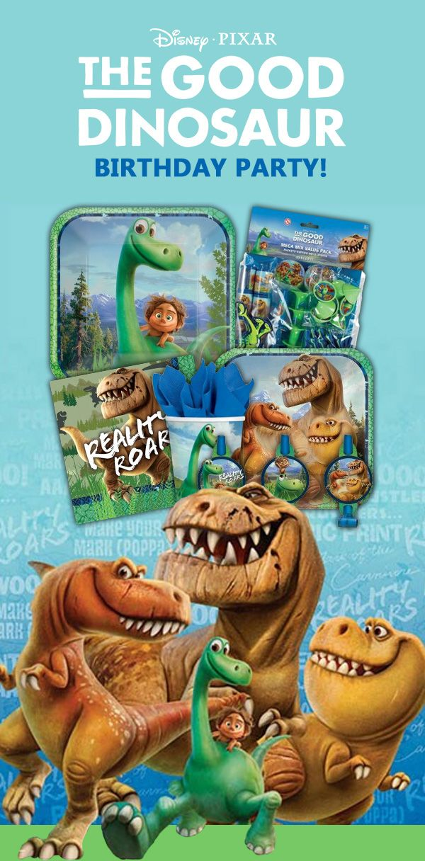 The Good Dinosaur, an upcoming Disney Pixar animated film, is already a popular party theme this Fall. There's a full lineup of Good Dinosaur party supplies available to help with your birthday party. Check them out here: http://www.discountpartysupplies.com/boy-party-supplies/good-dinosaur-party-supplies