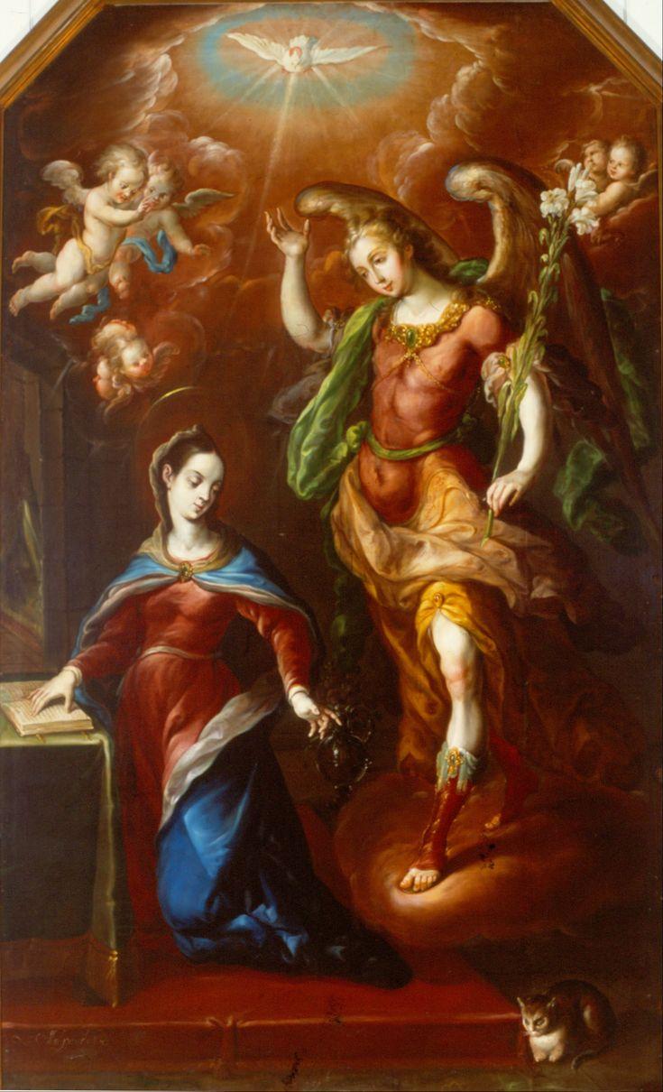 The Annunciation //  1000 // Cristóbal de Villalpando // Museo Nacional de Arte, México