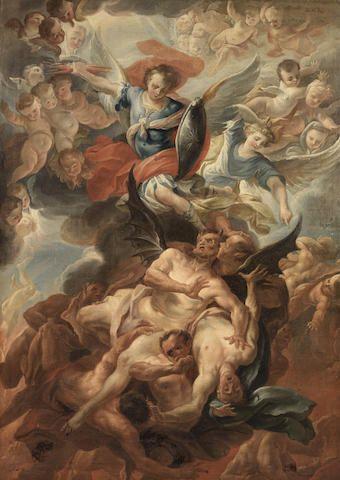 After Carlo Innocenzo Carlone (Genoa 1686-1775 Scaria) Saint Michael defeats the Devil
