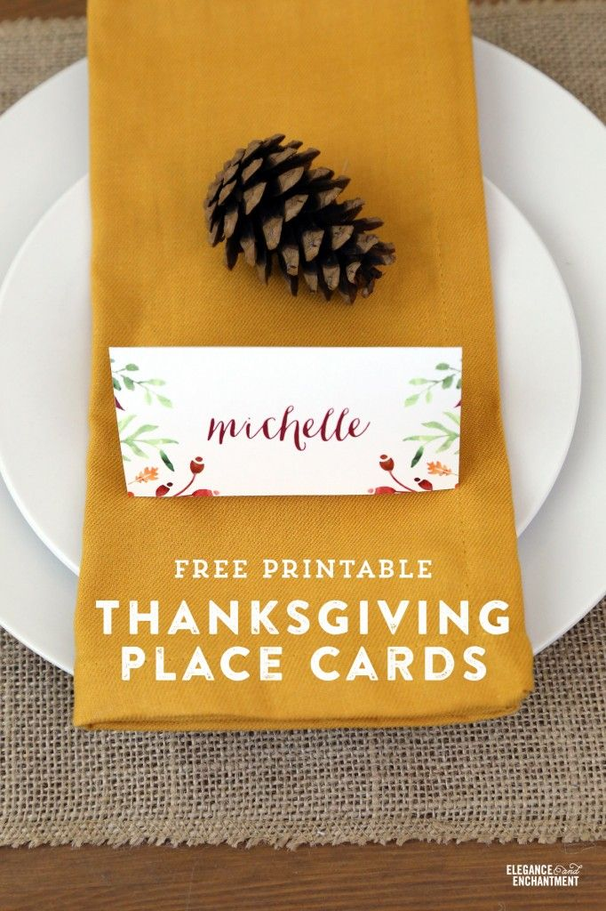 Free Printable Thanksgiving Place Cards And Tent Cards