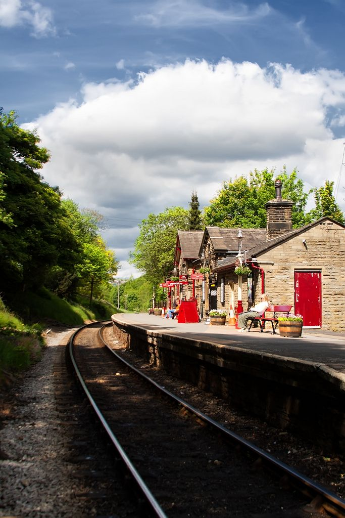 Haworth, West Yorkshire, England - stayed in Haworth August 1994 - visited the Bronte's house/museum and also went on a steam train (this line was featured in the film 'The Railway Children')