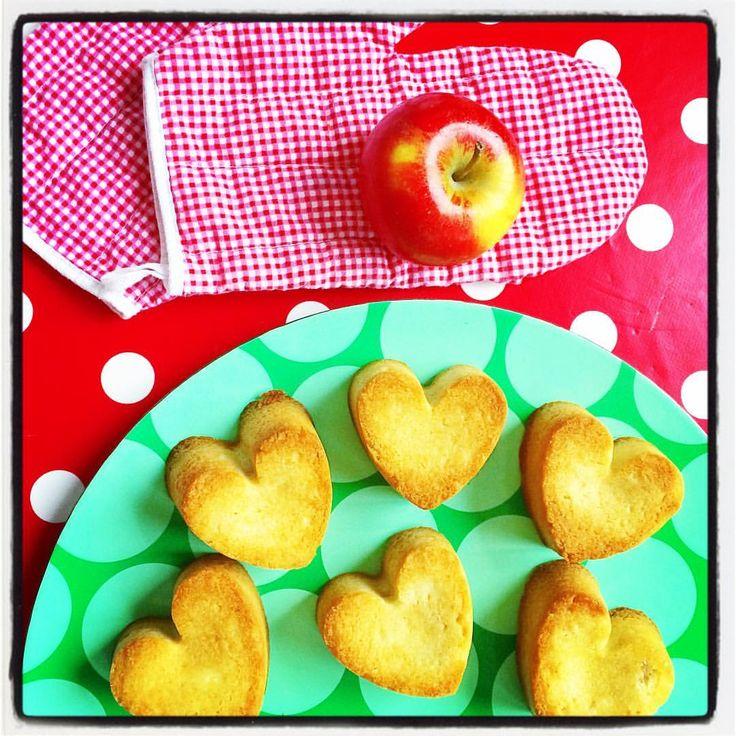 #zelfgemaakte #appelkoeken #appels #koeken #bakken #valentijnsdag