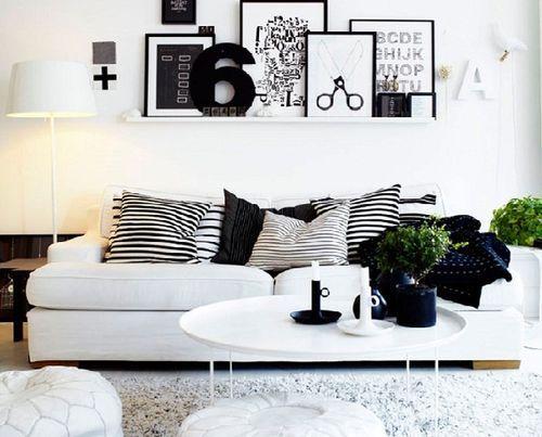Trắng đen sofa hiện đại đẹp thỏa mãn