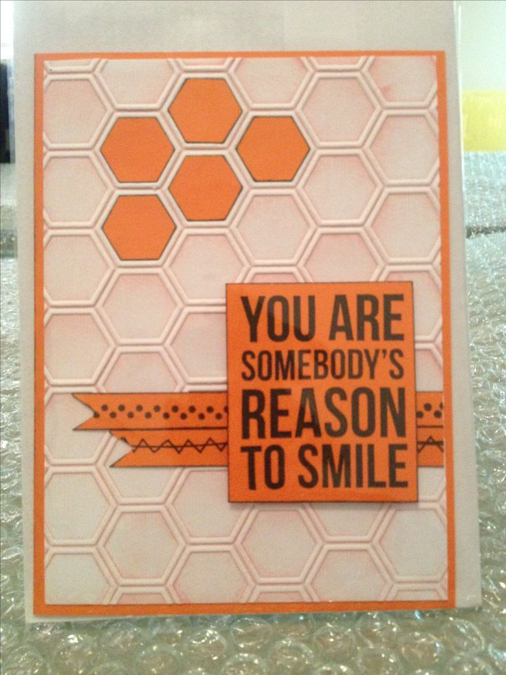 Hexagon Embossing Folder - You Are Somebody's Reason To Smile