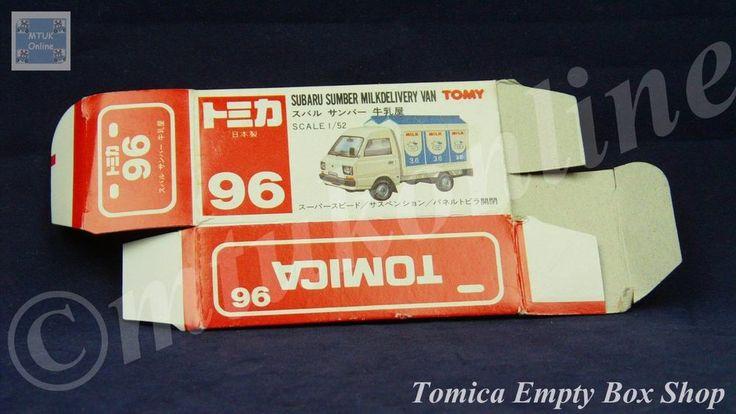 TOMICA 096C SUBARU SAMBER MILK   1/52   ORIGINAL BOX ONLY   1988 -1993 JAPAN