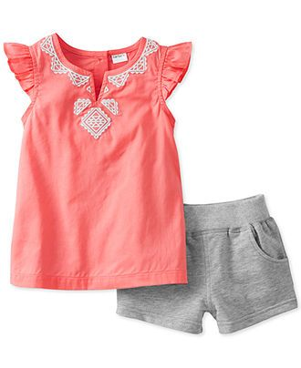 Carter's Baby Girls' 2-Piece Tank & Shorts Set - Kids Newborn Shop - Macy's…