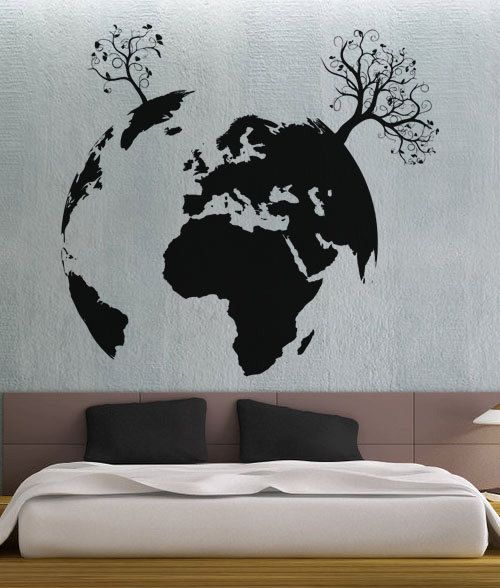 Items Similar To Growing Earth 2   UBer Decals Wall Decal Vinyl Decor Art  Sticker Removable Mural Modern On Etsy