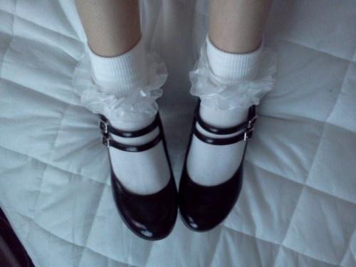 Baby Black Shoe Socks