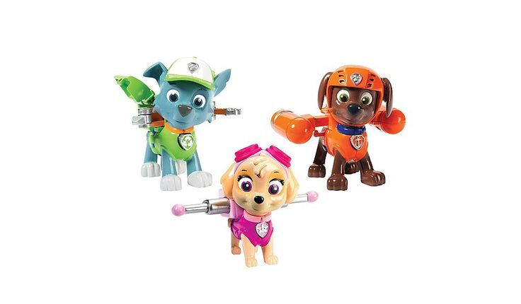 No job is too big and no pup is too small! Now you can re-enact rescue scenes with 3 Action Pack Pups! All of your favourite PAW Patrol characters are ready ...