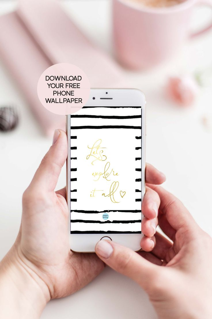 Pretty up your phone with this gorgeous gold foil wallpaper