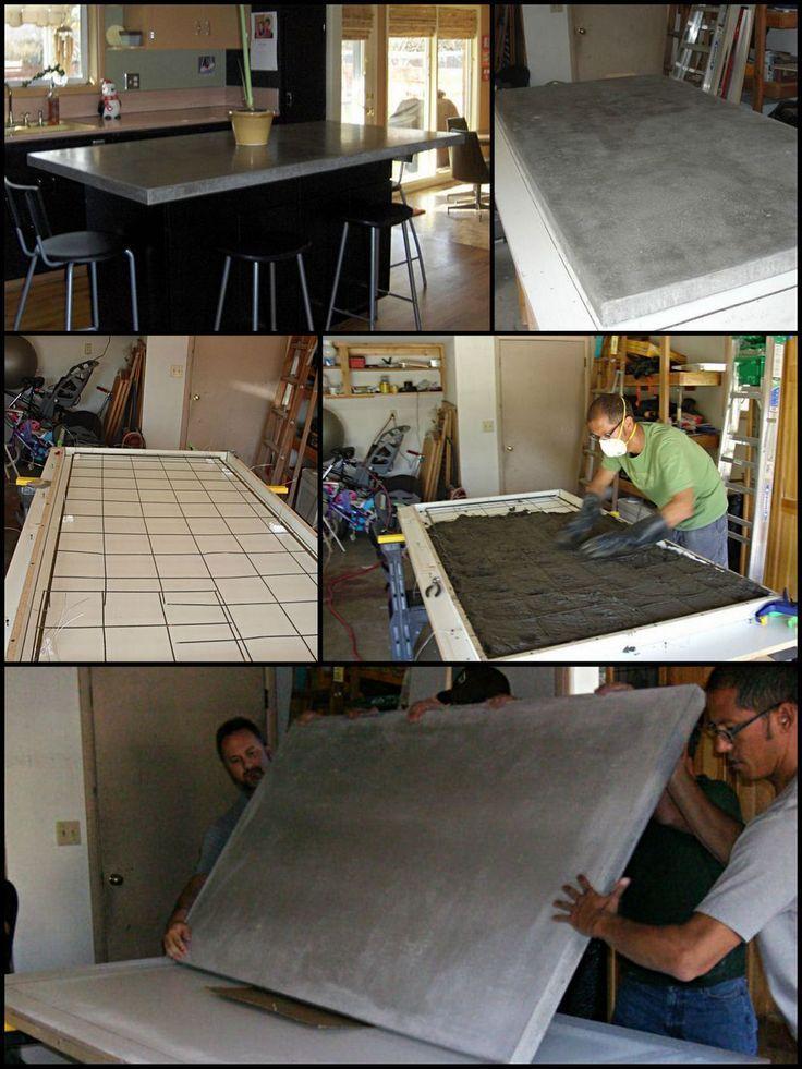 How to build a basic concrete countertop cemento - Encimeras de cemento ...
