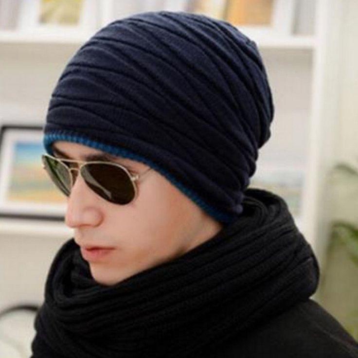 $4.23 (Buy here: https://alitems.com/g/1e8d114494ebda23ff8b16525dc3e8/?i=5&ulp=https%3A%2F%2Fwww.aliexpress.com%2Fitem%2FNew-Fashion-Man-Winter-Hat-Keep-Warm-Knitted-Wool-Cap-Set-Head-Men-Skullies-Beanies-Double%2F32740405061.html ) 2016 Arrival Beanies Knitted Hat Men's Winter Hats For Women Men Caps Gorros Warm Moto Fur Winter Beanie Fleece Knit Bonnet Hat for just $4.23