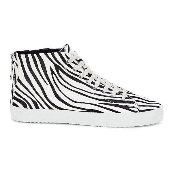 Rebecca Minkoff Zaina Too Sneaker ($195) ❤ liked on Polyvore featuring shoes, sneakers, lace up, natural, zebra shoes, laced sneakers, calf hair shoes, print sneakers and zebra print shoes