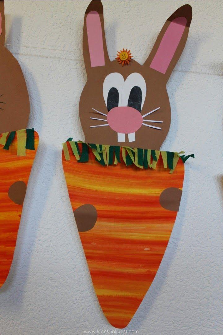 Wer versteckt sich denn da? Heute möchte ich mit euch eine weitere Oster-Bastel-Idee teilen. Und so geht's: Um die Karotte...