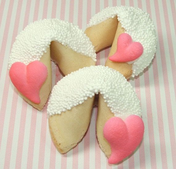 Great Idea For Bridal Shower Favors Custom Fortune Cookies From Etsy Shop Lucky Girl Fortunes